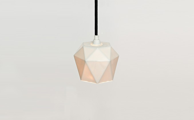 Diamond Porcelain Pendant Light