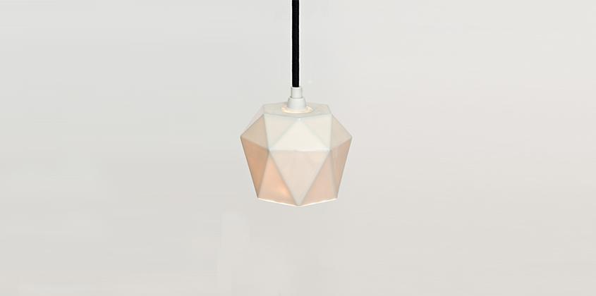 Diamond Porcelain Pendant Light