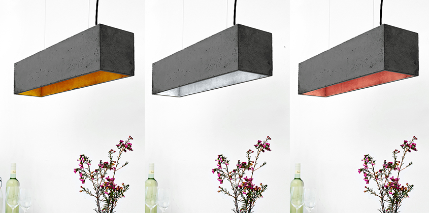 Concrete Lighting Industriel Dark Pendant Light